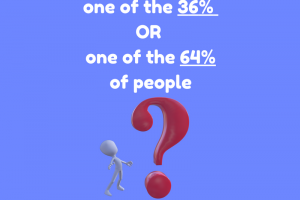 Are You One of The 36% or 64% of People?