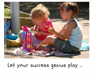 Let your success genius play
