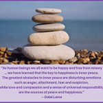 Quote:  The Greatest Obstacles To Inner Peace