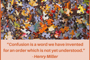 Quote:  Confusion Is A Word We Have Invented …