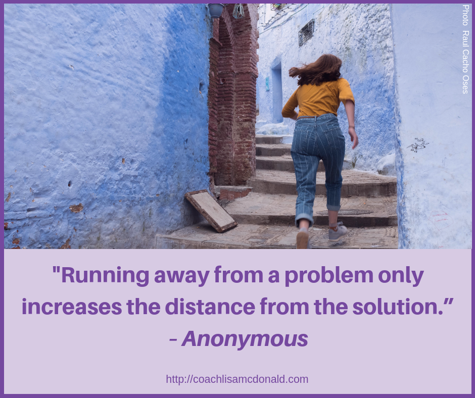 Quote Running Away From The Problem